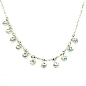 Lucky Brand Faux Opal Mini Cabochon Disc Necklace